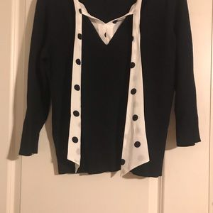 New York & Company Sweaters - Black sweater with tie. ADDED MEASUREMENTS